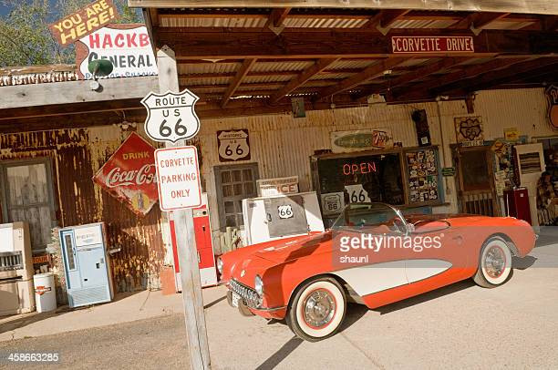 hackberry general store - chevrolet corvette stock pictures, royalty-free photos & images