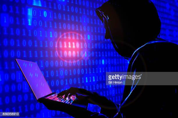 hacker red alert - threats stock pictures, royalty-free photos & images