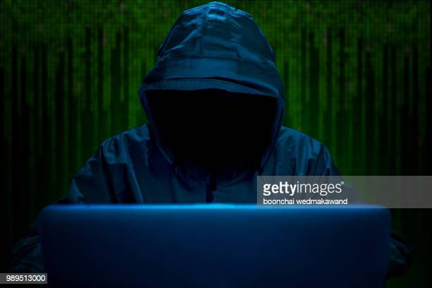 hacker stealing password and identity, computer crime - thief stock pictures, royalty-free photos & images
