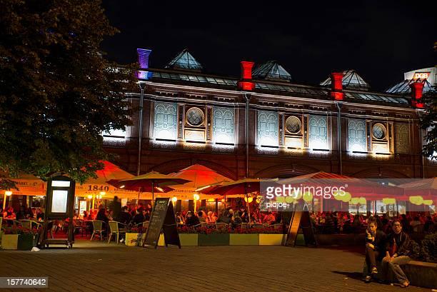 Hackeschen Markt in der Nacht, Berlin, Deutschland