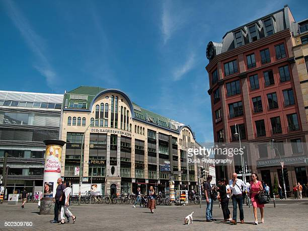 Hackescher Markt, the square in the heart of the district of Mitte in Berlin, Germany
