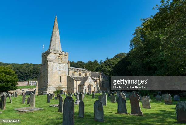 hackness church, north yorkshire, england - cemetery stock photos and pictures