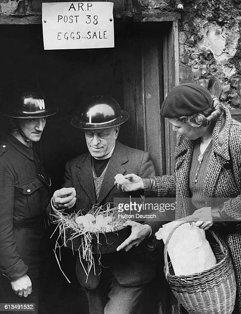 Hackney Air Raid Patrol Wardens Post is situated in the grounds of St Andrews Vicarage and the members make use of their spare time keeping chickens...