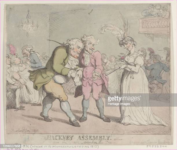 Hackney Assembly, 1802. Artist Thomas Rowlandson.