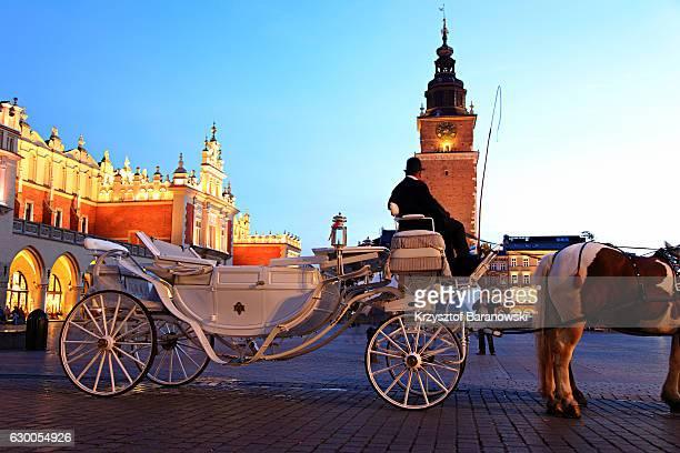A hackney cab in Krakow