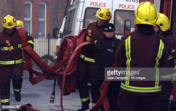Hackney police and firemen near the flat were a siege has being going on for weeks in Hackney Commander Bob Quick spelt out three possible scenarios...