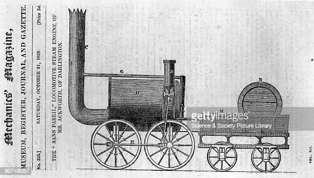 Hackworth's 'Sans Pareil' 31 October 1829 Illustration of Sans Pareil from Mechanics' Magazine The Sans Pareil designed by Timothy Hackworth competed...