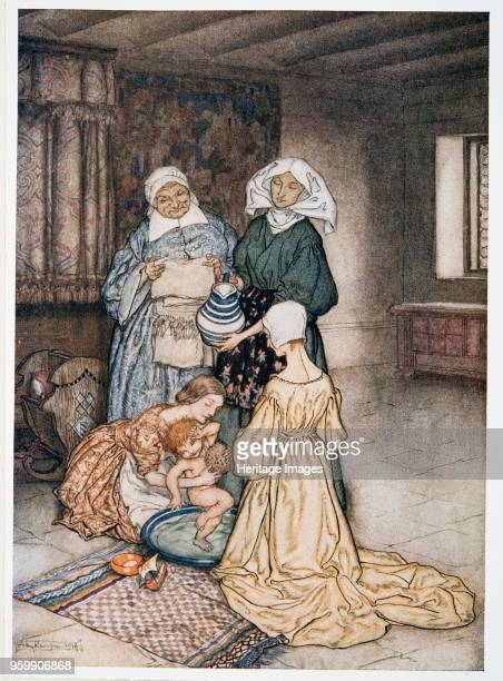 Had I not four or five women once that tended me illustration from William Shakespeare's 'The Tempest' pub 1926 colour lithograph William Shakespeare...