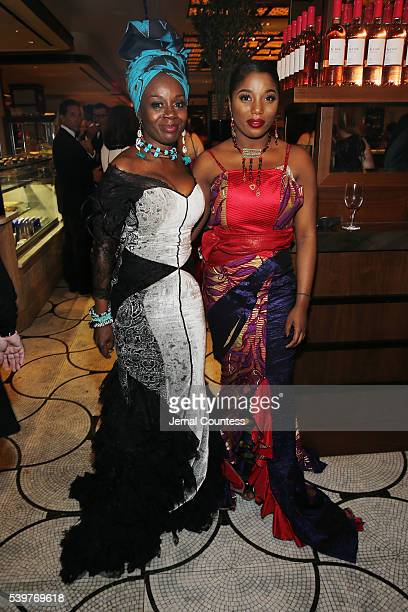 Hadar Busia Singleton and actress Akosua Busia attend the after party for the 2016 Tony Awards Gala presented by Porsche at the Plaza Hotel on June...