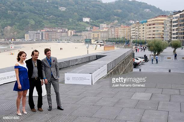Hadas Yaron Martin Dubreuil and Luzer Twersky attend 'Felix Eta Meira / Feix and Meira' photocall during 62nd San Sebastian International Film...
