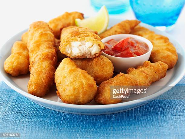 haddock goujons - breaded stock photos and pictures