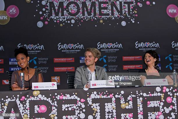 Haddy Jatou Njie, Erik Solbakken and Nadia Hasnaoui are this years hosts for the Eurovision on May 24, 2010 in Oslo, Norway. In all, 39 countries...