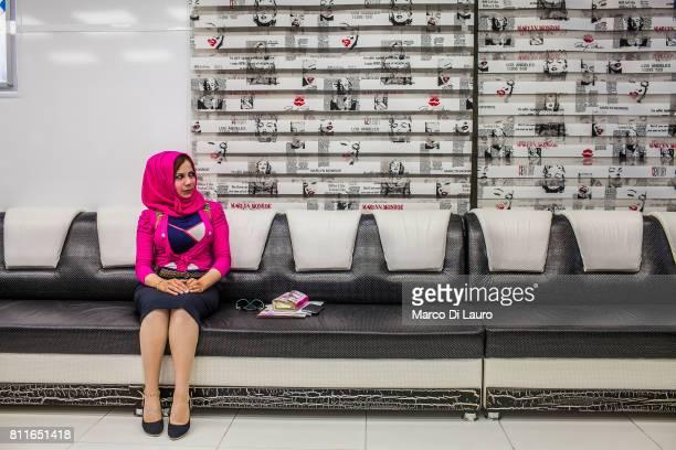"April 20: Hadeel al-Mashhadani, 23-years-old is seen at the Barbie Clinic on April 20, 2015 in Baghdad, Iraq. ""nHadeel, an Iraqi law student, came to..."