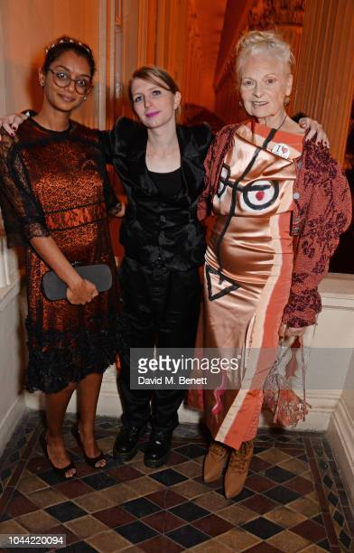 Hadeel Ibrahim Chelsea Manning and Dame Vivienne Westwood attend attends the annual Friends Of The Institute of Contemporary Arts dinner in honour of...