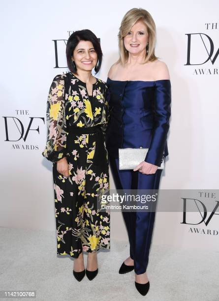 Hadeel Mustafa Anabtawi and Arianna Huffington attend 10th Annual DVF Awards at Brooklyn Museum on April 11 2019 in New York City