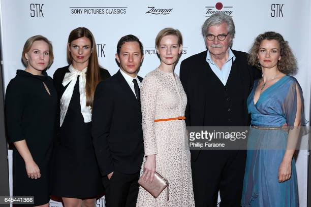 Hadewych Minis Janine Jackowski Trystan Puetter Sandra Hueller Peter Simonischek and Lucy Russel attend Sony Pictures Classics' Annual PreAcademy...