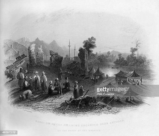 Hadgi encamped near Antioch on the banks of the Orontes Turkey 1841 From Syria the Holy land and Asia Minor volume I by John Carne published by...