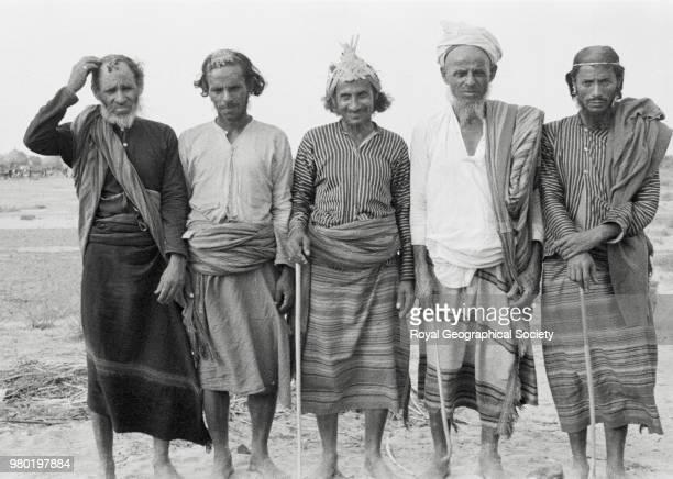 Hadi al Qirbi Shaikh of Shuqaiq and local notables Saudi Arabia 06 February 1937