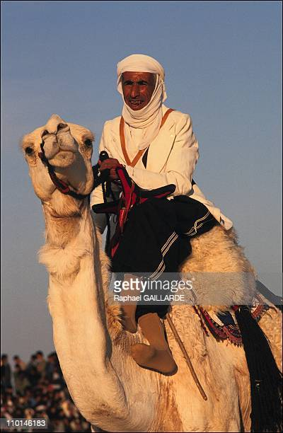 Hadi Ben Naceur in charge of the camel riders from Douz Tunisia on December 28 1990