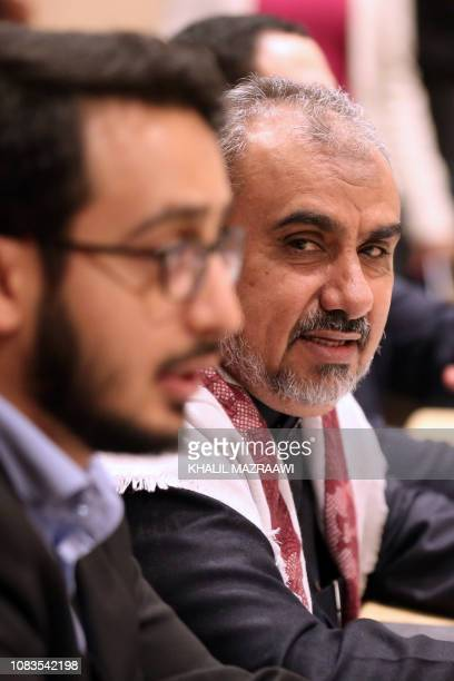Hadi Haig Yemeni government official of the prisoner swap committee attends a meeting to discuss a prisoner swap deal between the Yemen government...
