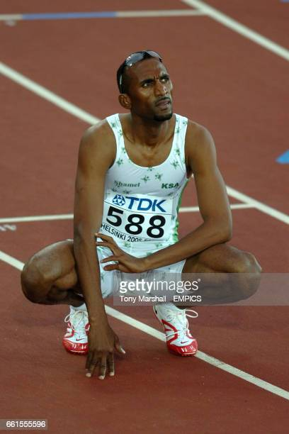 Hadi Soua'an AlSomaily of Kazakhstan after the mens 400m hurdles semi final