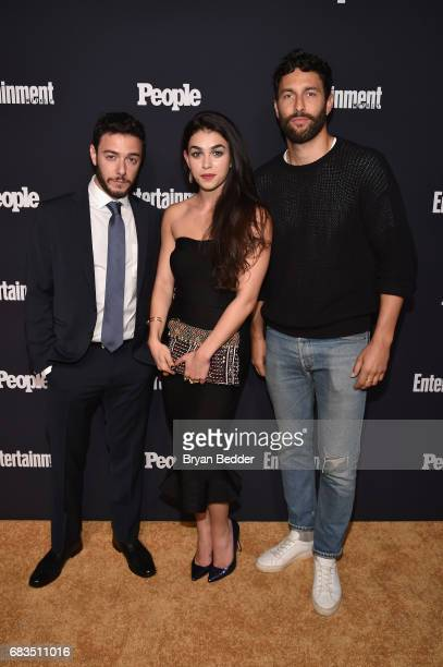 Hadi Tabbal Natacha Karam and Noah Mills attend the Entertainment Weekly and PEOPLE Upfronts party presented by Netflix and Terra Chips at Second...