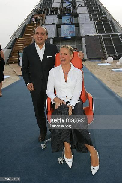 Hadi Teherani And Claudia Effenberg In The Presentation Of office chair 'Silver' From Hadi_Teherani In Dockland in Hamburg On 160605