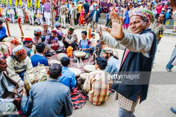 hadimba devi festival in manali - traditional musician stock photos and pictures