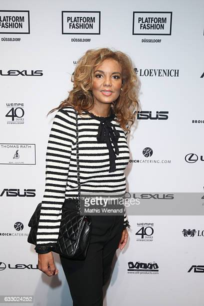 Hadiya Hohmann attends the Thomas Rath show during Platform Fashion January 2017 at Areal Boehler on January 29 2017 in Duesseldorf Germany