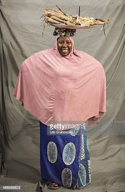 Hadiza 29 years old from Niamey poses during SAFEM Salon international de l'artisanat pour la femme trade fair on December 09 2013 in Niamey Niger...