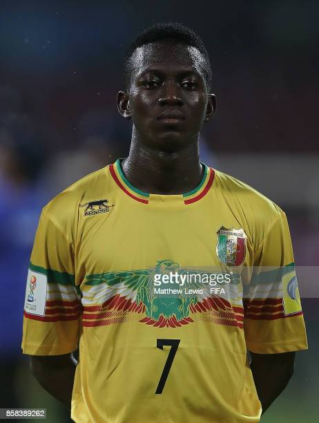 Hadji Drame of Mali looks on during the FIFA U17 World Cup India 2017 group B match between Paraguay and Mali at Dr DY Patil Cricket Stadium on...