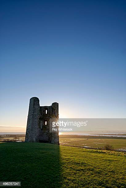 Hadleigh Castle at dawn on a winter morning.