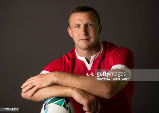 Hadleigh Parkes of Wales poses for a portrait during the Wales Rugby World Cup 2019 squad photo call on on September 17 2019 in Kitakyushu Fukuoka...