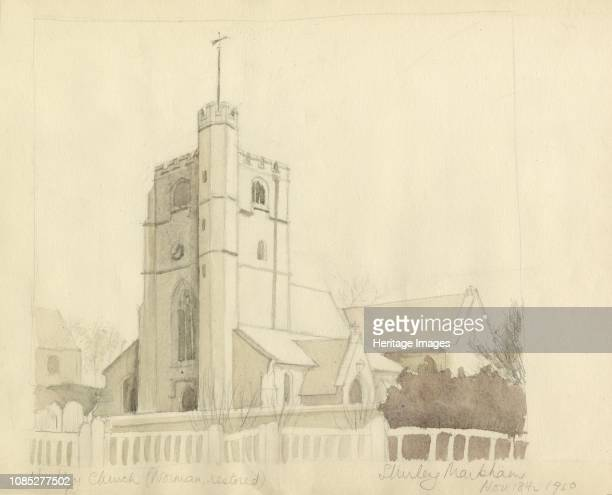 Hadley Church ' 1950 St Mary the Virgin Monken Hadley Barnet London Artist Shirley Markham
