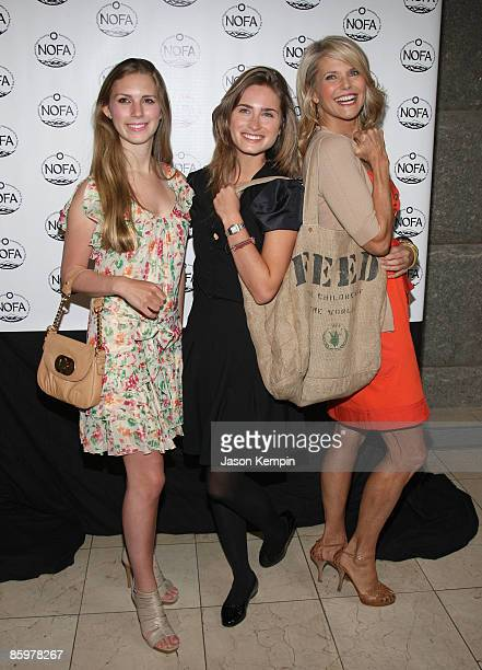 Hadley Nagel Lauren Bush and Christie Brinkley attend the NOFANY Organic Food from Farm to Family Lunch at Guastavino's on April 14 2009 in New York...