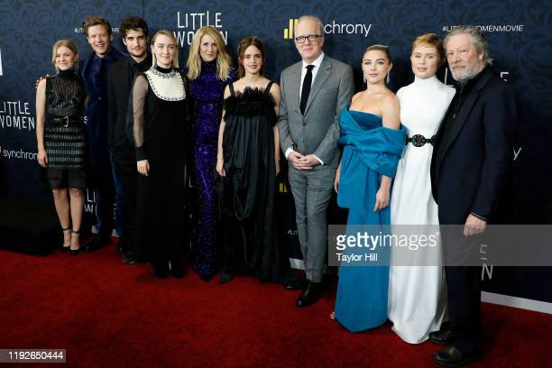 Hadley Robinson James Norton Louis Garrel Saoirse Ronan Laura Dern Emma Watson Tracy Letts Florence Pugh Eliza Scanlen and Chris Cooper attend the...