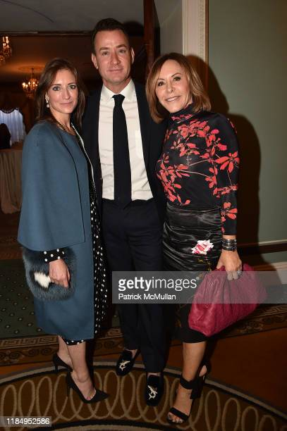 Hadley Scully Chris Leavitt and Nancy Goodes attend the ADDF Symposium Luncheon at the Pierre Hotel on November 01 2019 in New York City
