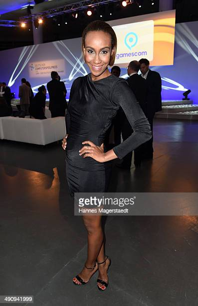 Hadnet Tesfai attends the German Computer Games Award 2014 at Postpalast on May 15 2014 in Munich Germany