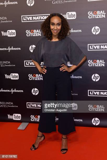Hadnet Tesfai attends the Global Citizen Festival at the Barclaycard Arena on July 6 2017 in Hamburg Germany