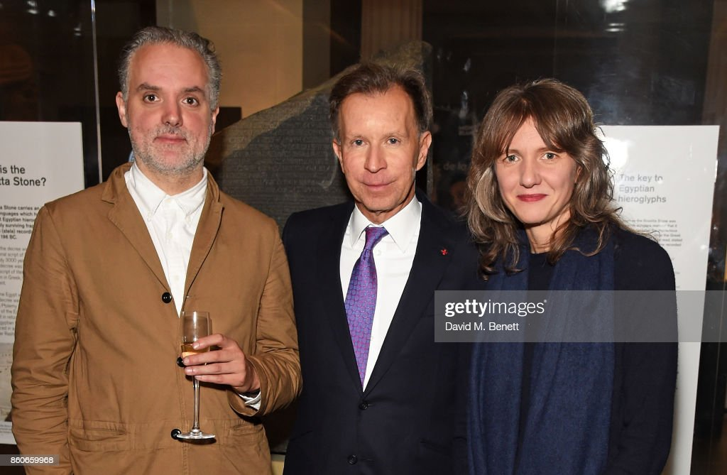Hadrian Garrard, John Studzinski and Polly Staple attend the Montblanc de la Culture Arts Patronage Award for the work of the Genesis Foundation at The British Museum on October 12, 2017 in London, England.