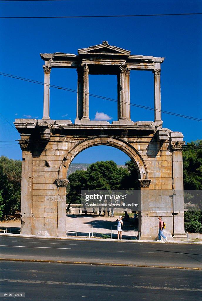 Hadrian's Arch, Athens, Greece : Stockfoto
