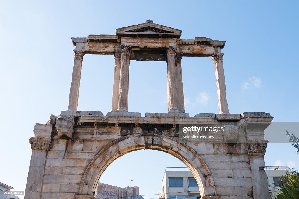 Porta di Adriano, Atene, Grecia : Foto stock