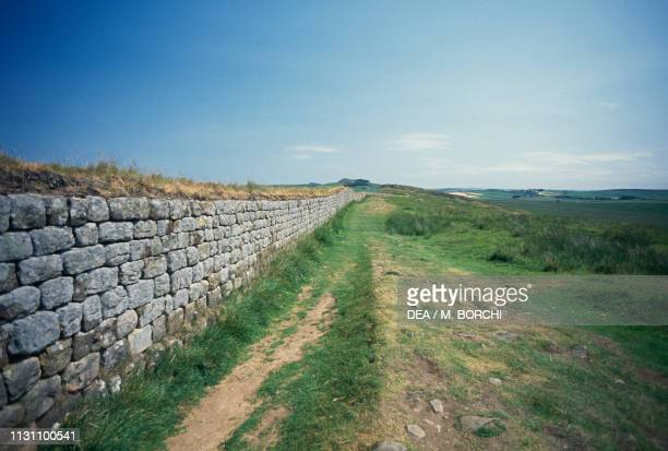 Hadrian's Wall between Steel Rigg and Housesteads England United Kingdom Roman civilization 2nd century