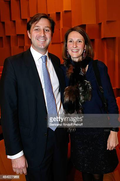 Hadrien de Clermont Tonnerre and his wife Philippine de Clermont Tonnerre attending the celebration of 26 Years of Russian French Friendship by the...