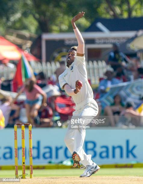Hadrik Pandya of India during day 1 of the 2nd Sunfoil Test match between South Africa and India at SuperSport Park on January 13 2018 in Pretoria...