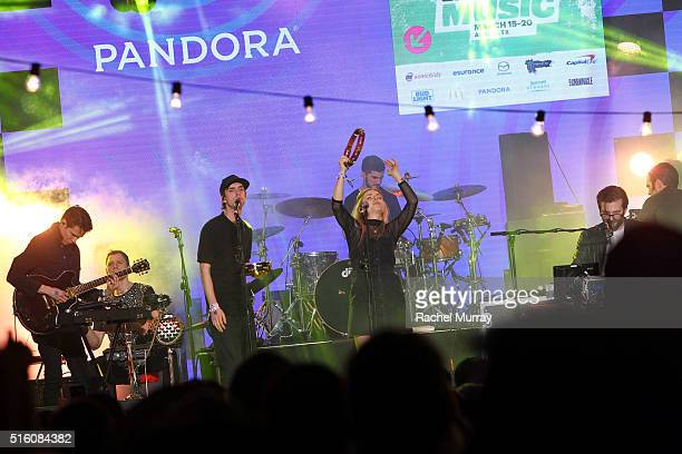 Haelos performs onstage during the PANDORA Discovery Den SXSW on March 16 2016 in Austin Texas