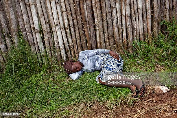 haemorrhagic epidemic of fever caused by the Ebola virus a patient is waiting at the entrance of the Island Clinic new treatment center in the suburb...