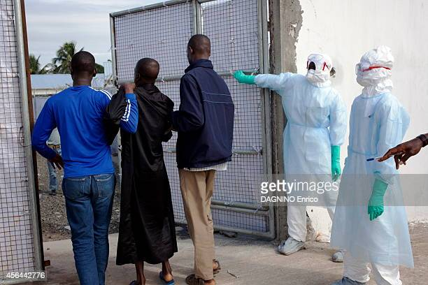 haemorrhagic epidemic of fever caused by the Ebola virus arrival of patients at the Island Clinic new treatment center in the suburb of Monrovia on...