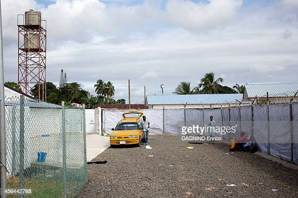 haemorrhagic epidemic of fever caused by the Ebola virus patient waiting at the entrance of the Island Clinic new Ebola treatment center suburb of...