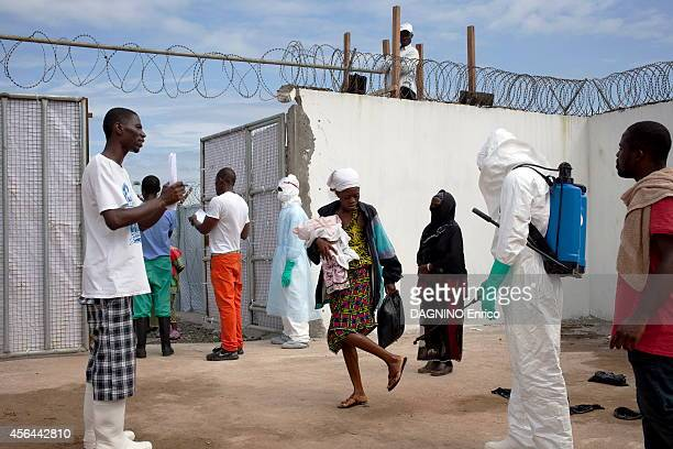 haemorrhagicepidemic of fever caused by the Ebola virus arrival of patients at the Island Clinic new treatment center in the suburb of Monrovia on...